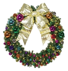 wall wreath with ornaments