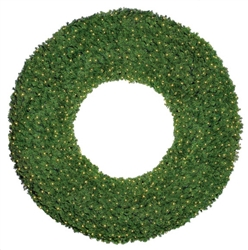large Mountain Pine wreaths with lights