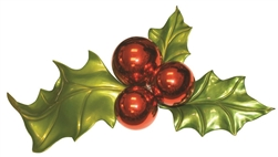 "30"" Extra Large Holly leaves and Berries"
