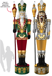 giant nutcracker with LED lights