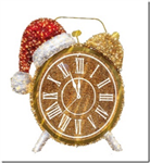 Outdoor 3-D clock with Santa Hat