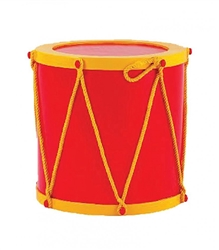 "24"" Giant Red Fiberglass Christmas Drum"