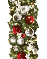 LED lit Garland 10' sections