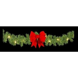 "14"" x 25' Mountain Pine Lighted Branched Commercial Garland"