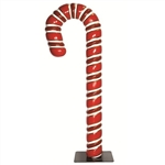 Fiberglass Ribbed Candy Canes with stands