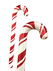 Fiberglass smooth candy canes