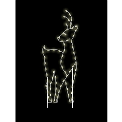 8' Silhouette Side Facing Buck with LED Bulbs