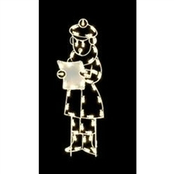 Silhouette Caroling Boy with standard or LED Bulbs