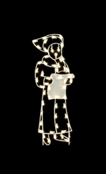 5' Silhouette Caroling Woman with standard or LED Bulbs