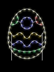 Ground Mount 5' Silhouette Easter egg with 58 C7 LED Bulbs