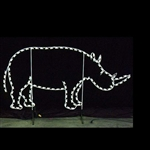 Ground mount Rhino with LED bulbs