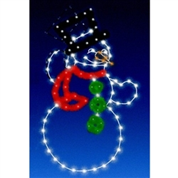 8' Enhanced Top Hat Animated Snowman with LED Bulbs