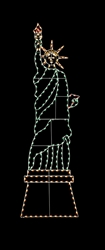 Silhouette 20' Statue of Liberty with LED lights