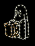 Ground Mount 5' Trick or Treat Ghost with LED bulbs