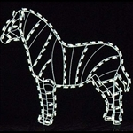 Zebra with LED Bulbs