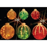 Icy Ball Illuminated Ornament with LED lights