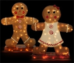 "31"" Gingerbread Boy & Girl"