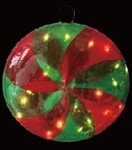 Lighted Peppermint Round