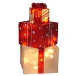 "Lighted 24"" Gift Box with LED mini lights"