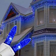 LED White wire Icicle Lights