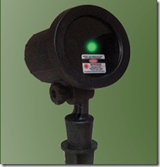 Garden light with Green LED Laser