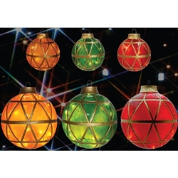Mosaic Illuminated ball ornament made of poly resin