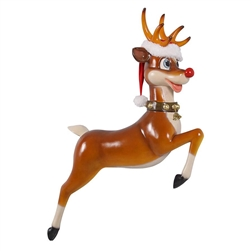 Reindeer made of fiberglass