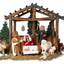 Nativity with animated characters