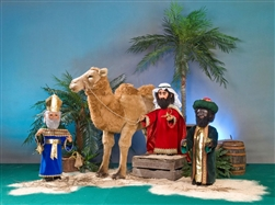 three kings and camel in animation