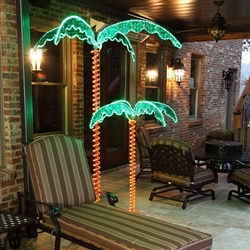 4.5' and 7' rope lighted Palm Trees