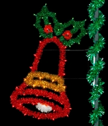 6' Sparkling Joyful bell with LED lights