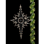 5' or 8' Silhouette Bethlehem Star Pole Mount with LED Bulbs