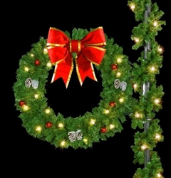 "Lighted 60"" wreath"