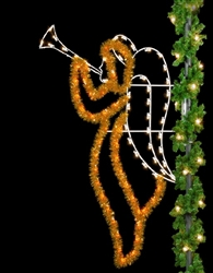 pole mount 8' enhanced Christmas Angel