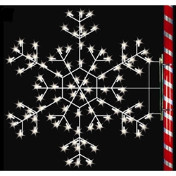5' Silhouette Cascade Snowflake with standard or LED bulbs