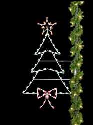 Pole mount Christmas Tree with C7 LED Bulbs