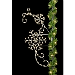 8' Classic Winter Snowflake with standard or LED Bulbs
