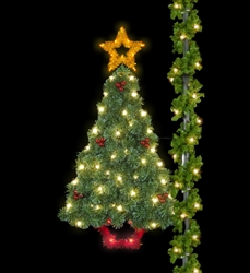Pole Mount Sparkling Deluxe Majestic Pine Tree with LED lighting