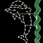6' Silhouette pole mount Dolphin with LED bulbs