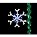 4' Snowflake with LED bulbs