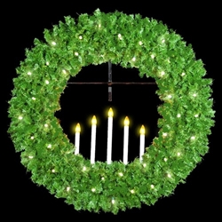 5 Candle wreath with LED bulbs