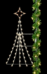 Pole mount Silhouette Festive tree with C7 Bulbs