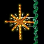 Enhanced Golden Starburst 7' pole mount with Garland accents