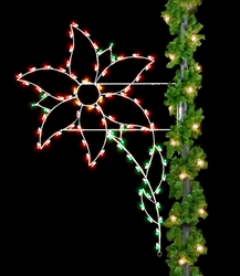Lighted 8' Silhouette Poinsettia