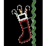 7' Enhanced Christmas Stocking with LED bulbs