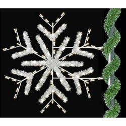 5' Enhanced Deluxe Snowflake with LED bulbs