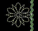 Lighted Fantasy Spiral Snowflake Pole Mount