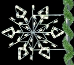 Pole Mount Winterfest Diamond Snowflake