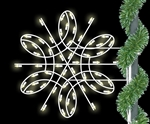 3' - 6' Deluxe Spiral Lighted Pole Mount Christmas Snowflake