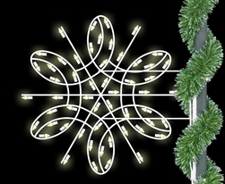 Pole Mount 3' to 6' Silhouette Deluxe Spiral Snowflake